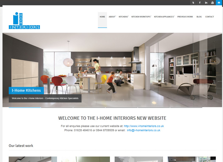 ihome kitchens richie p web design